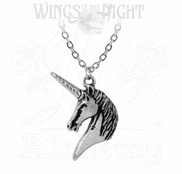 ALCHEMY GOTHIC Mythical Unicorn Necklace